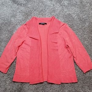 🔥 89th & Madison Coral Open Front Cardigan